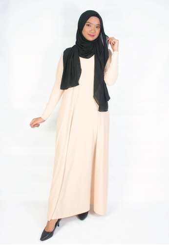 Zaryluq beige Maxi Dress in Desert Beige 04E7FAA1D87F2FGS_1