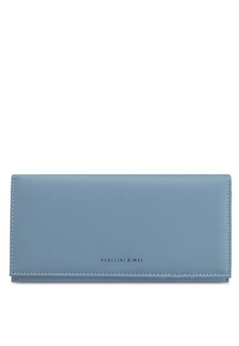 Perllini&Mel blue Faux Leather Long Wallet 0D43EAC2EDE314GS_1