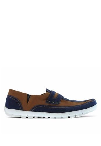 Sogno blue Sepatu Slip On Pria GF.8703 23C56SH2BF2B22GS_1
