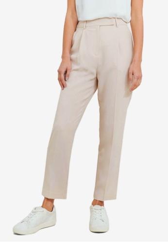 FORCAST beige Juna Tapered Slim Pants 07B8AAA0F897EAGS_1