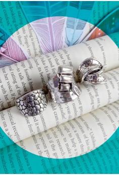 Silver Trio Ring Set