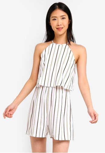 ZALORA BASICS multi Basic Halter Double Layer Playsuit 831F0AA6D5B1B5GS_1