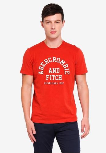 Shop abercrombie fitch brand logo t shirt online on for Abercrombie logo t shirt