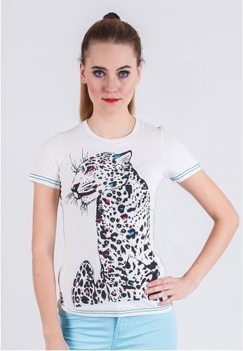 LGS white LGS -  Slim Fit - Ladies T-Shirt - White - Tiger. LG695AA67YJSID_1