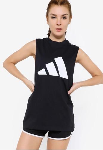 ADIDAS black sportswear mesh tank top EF7BBAAE97C2ADGS_1