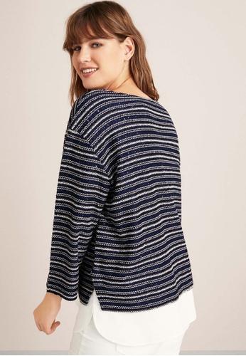 06dc3391fe6 Shop Violeta by MANGO Plus Size Metallic Thread Sweatshirt Online on ZALORA  Philippines