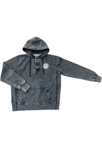 Von Dutch grey Von Dutch Vintage Logo Grey Washed Hoodie 88703AAA4D4E0CGS_1