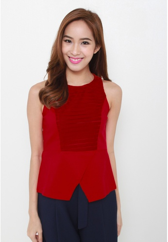 Leline Style red Julia Blouse LE802AA04ZBVSG_1