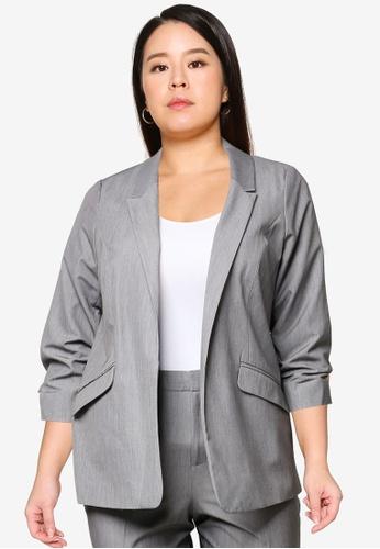 Dorothy Perkins grey Plus Size Grey Jacket 6CE7FAAE037F29GS_1