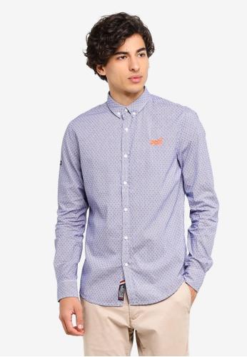 Superdry 藍色 Premium Button Down Shirt C993CAA0FFEB35GS_1