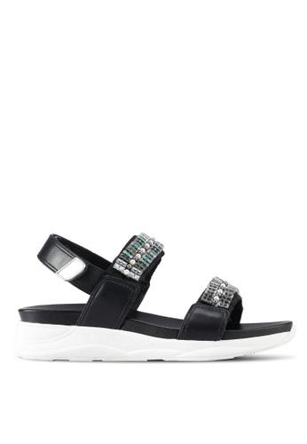 ALDO black Eloima Flat Sandals 22554SHA2B077BGS_1