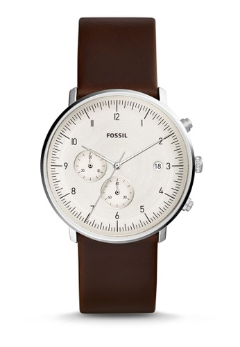 Fossil brown Chase Timer Chronograph Watch FS5488 14602ACF925B4AGS_1