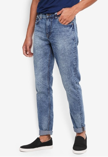 Only & Sons blue Warp Skinny Jeans 82D35AA80D5029GS_1