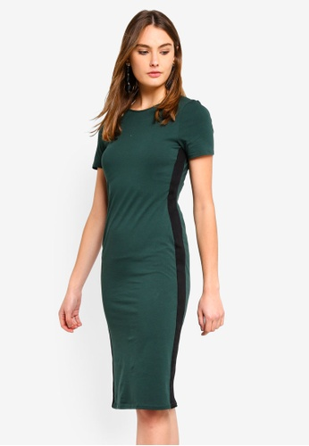 Dorothy Perkins 綠色 Green Side Stipe Bodycon Dress 846E8AA8F3F1DCGS_1