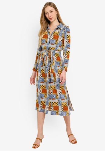 Compania Fantastica multi African Print Dress EF8B5AA69EE120GS_1