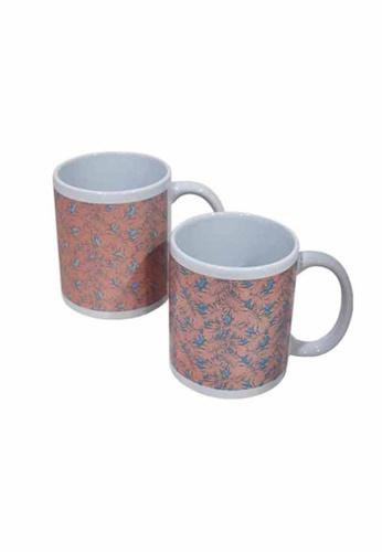Slique pink Premium Ceramic 2 Pcs Mug Set 300 ml 49ABDHL0D70154GS_1