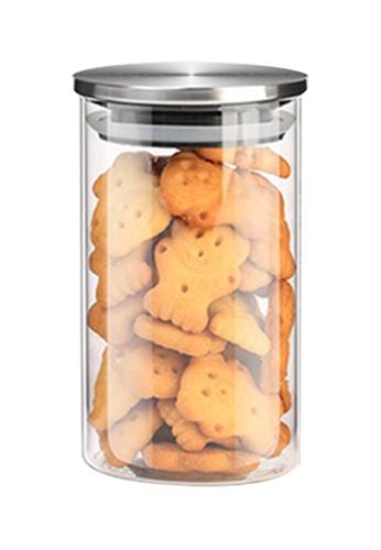 HOUZE HOUZE - 300ml Glass Storage Jar with Stainless Steel Sealed Lid (Dia: 6.5cm) 2A4ABHL5E08799GS_1