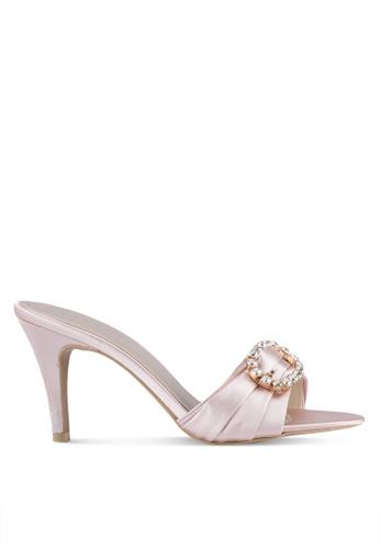 VINCCI pink Slide On Diamante Heels VI831SH0SY5AMY_1