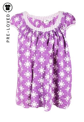 Milly purple Pre-Loved milly Purple Geometrical Printed Top 38CEAAA46460C7GS_1
