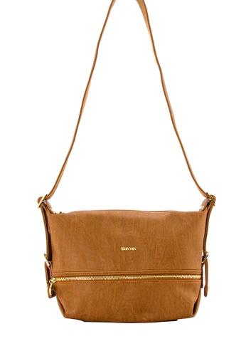 SEMBONIA brown SEMBONIA Synthetic Leather Crossbody Bag (Brown) 22BBEACF670ADFGS_1