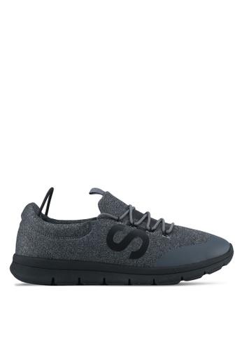 Superdry black and grey Superdry Scuba Storm Runner Sneakers SU137SH0SLN0MY_1