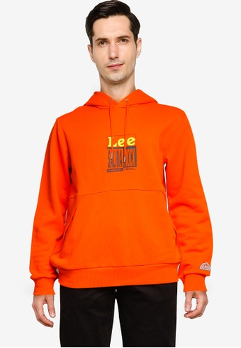 Lee orange Long Sleeve Hoodie Sweatshirt 68EE0AA382C55CGS_1