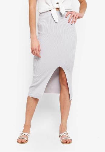 Cotton On grey Cleo Knit Tube Skirt 31858AAF8DE426GS_1