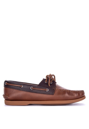 Alberto brown Laced Boat Shoes 80562SHEEC7EBFGS_1