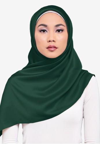 UMMA green Asna Square Scarf 7BAB4AA33CF6C5GS_1