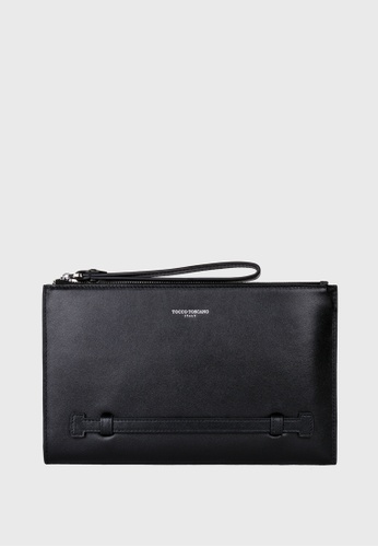 Tocco Toscano black Fiesole Top Zip Clutch - Small (Black) TO281AC80ZJBSG_1