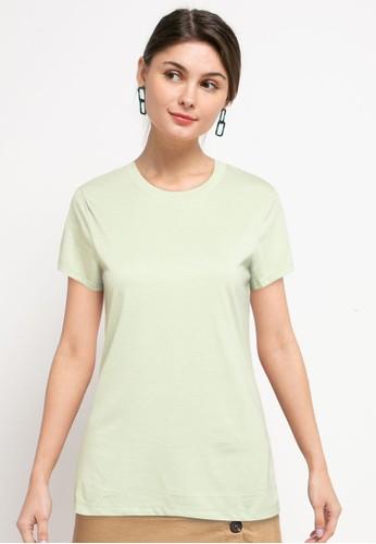 Tolliver green Round Neck Basic Short Sleeve Tee DD381AAE0F8B4BGS_1