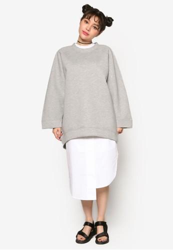 韓系時尚寬版拉克蘭esprit招聘長袖衫, 服飾, 外套