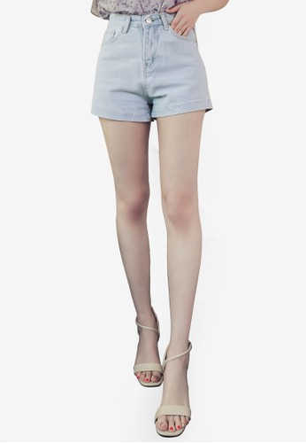 Eyescream blue Casual High Waist Denim Shorts 3DD3CAA7C6B9C6GS_1
