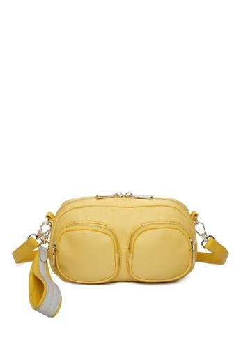 Milliot & Co. yellow Donna Sling Bag 83E7DAC109C4BEGS_1