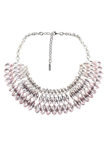 SUGARFIX by BaubleBar pink Iris Collar Necklace 026D0AC1CC05BBGS_1