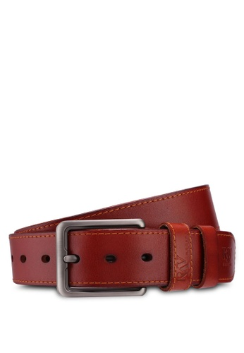 RAV Design brown 40MM Leather Belt A1896AC0CF8D44GS_1