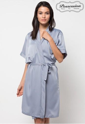 Possession grey Possession Lingerie Set Slip & Robe/Kimono 90087 GY C99BEAA3947D6CGS_1