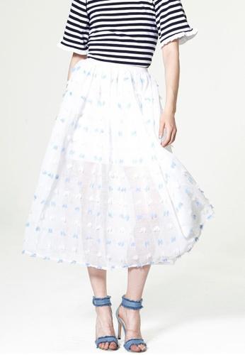 Storets blue Lolita Frayed Gauze Skirt ST450AA0GP2DSG_1
