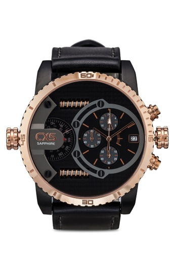 Carlo Cardini black and gold Carlo Cardini CX5 006G-RG-4 Gents Watch CA038AC56LDVMY_1