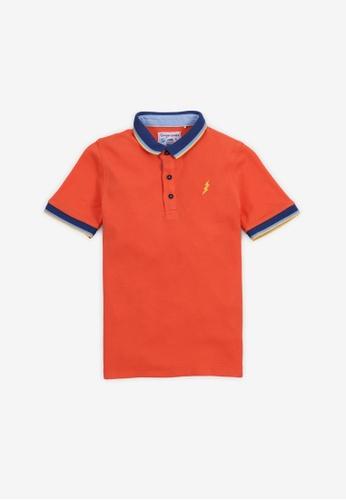 Gingersnaps orange Boys Collar Polo With Lightning Embro F27BCKA4C76EF9GS_1