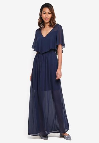 Vero Moda navy Dora Ss Long Dress BA187AA0489237GS_1