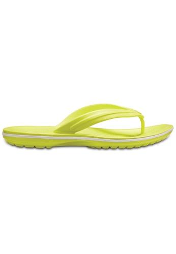 Crocs yellow Crocband™ Flip TBG/Whi DF307SHD945D1AGS_1