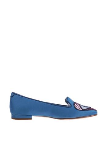 CHIARA FERRAGNI 藍色 Chiara Ferragni/琪亞拉·法拉格尼 亮片眼睛心平跟鞋 F3175SH105C9C6GS_1