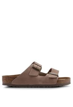 db413b491b2 Birkenstock brown Arizona Leather Steer Sandals 3EC85SH612CD14GS 1