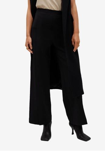 Mango black Pleat Straight Trousers DB1FBAAC9FC40AGS_1