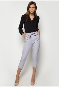 Black Long Sleeves with grey Pants