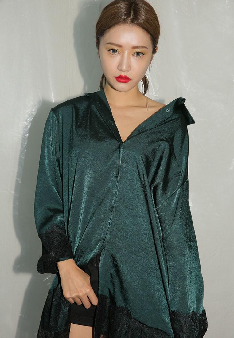Korean Fashion Lace Slip Tunic