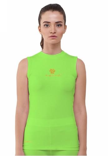 Tiento green Tiento Women Baselayer Sleeve Less Green Stabilo Sport Wanita Olahraga Renang Senam Zumba Yoga Lari Running Jogging Gym Fitness 4A4B5AA3B1FD4BGS_1