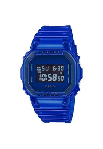 G-SHOCK blue Casio G-Shock Men's Digital Watch DW-5600SB-2 Blue Resin Band Sports Watch 7F0FAACB2837F9GS_1