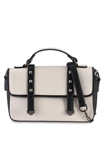 Unisa white Colour Block Convertible Top Handle Bag 69928AC64FE1C7GS_1